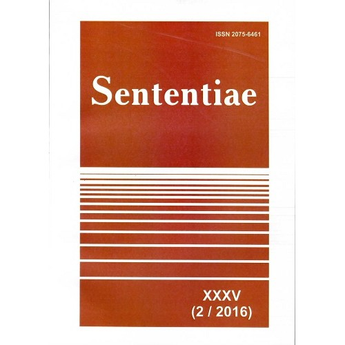 Sententiae: наукові праці спілки дослідників модерної філософії